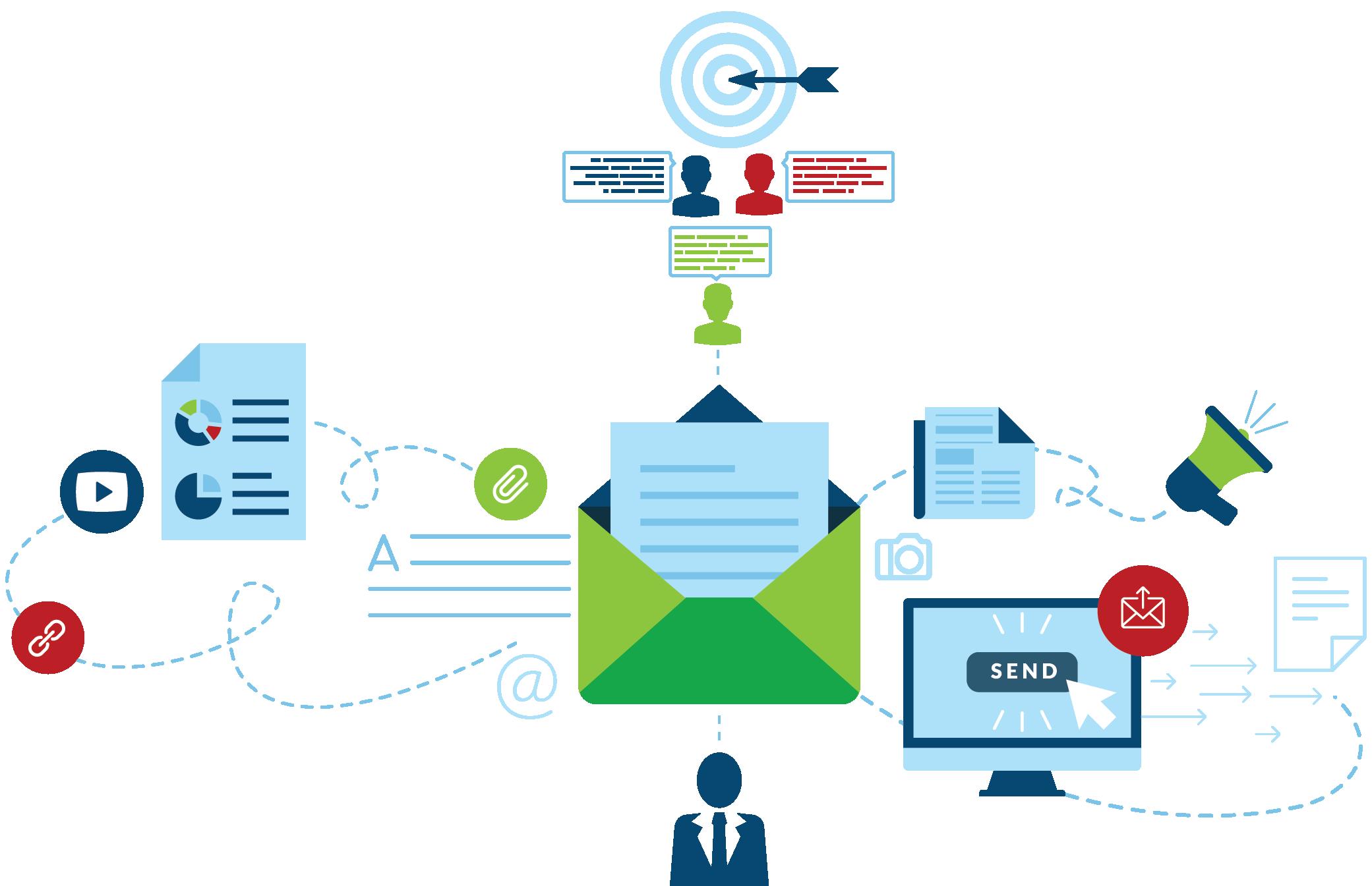 Pictogramme représentant le marketing automation