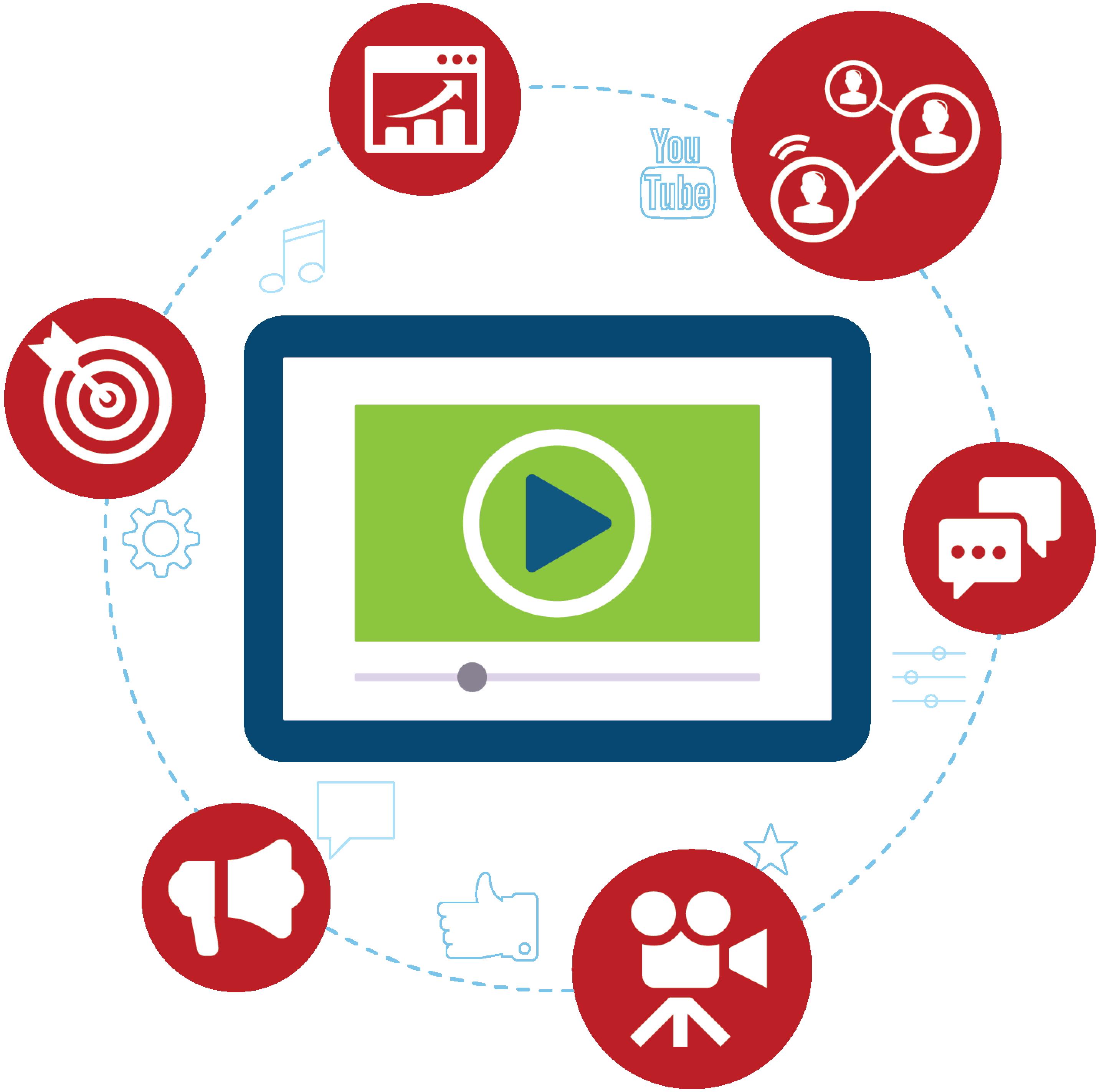 Pictogramme représentant la vidéo marketing