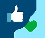 Icone e-réputation en ligne