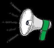 Pictogramme megaphone WSI