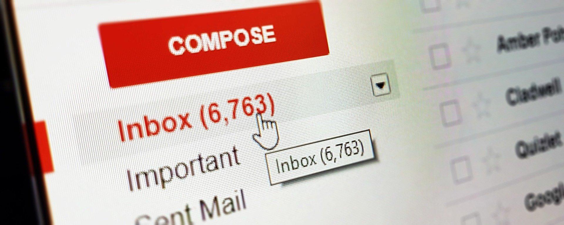 Emailing - boite de réception GMail